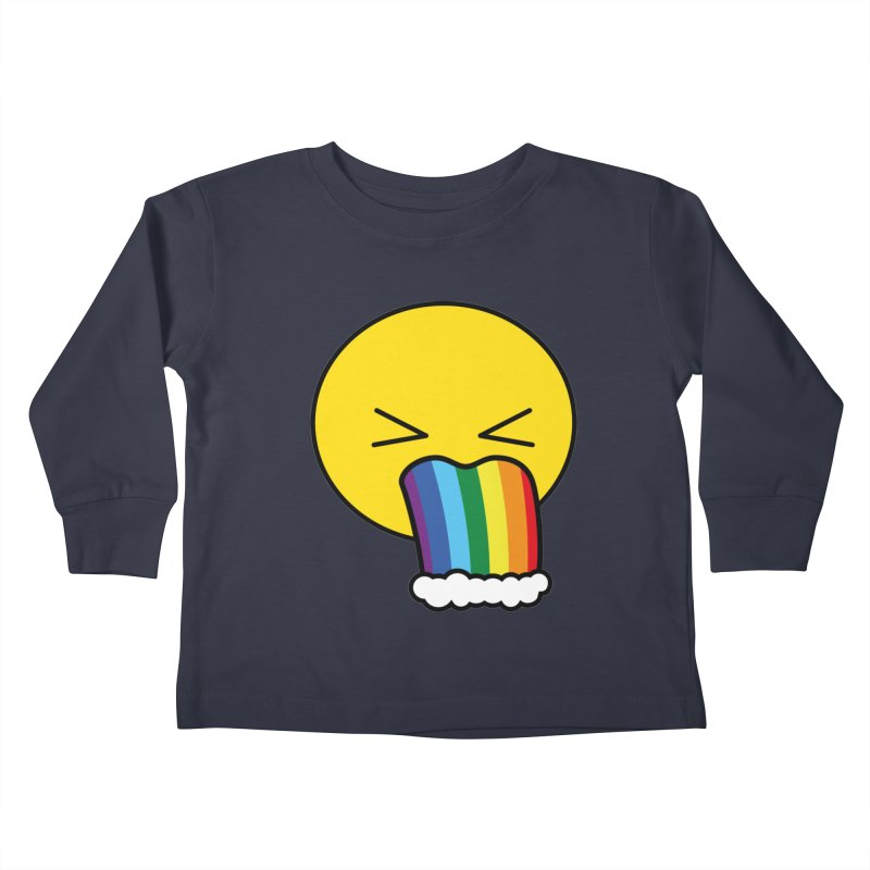 Puke Rainbow - Emoji Kids Toddler Longsleeve T-Shirt by Beatrizxe