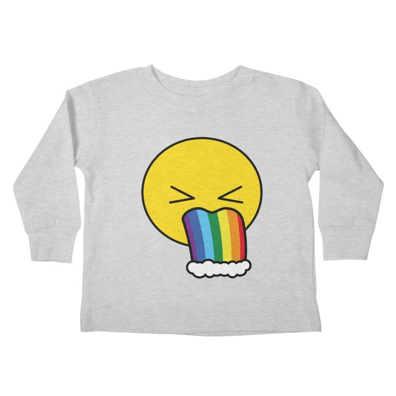 Puke Rainbow - Emoji Kids Toddler Longsleeve T-Shirt by Beatrizxe