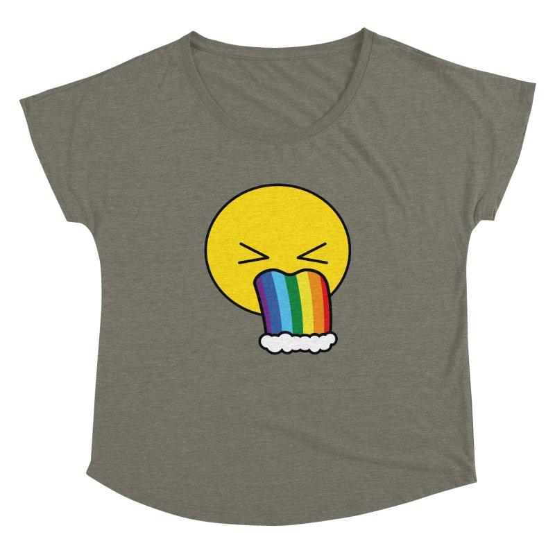 Puke Rainbow - Emoji Women's Dolman by Beatrizxe
