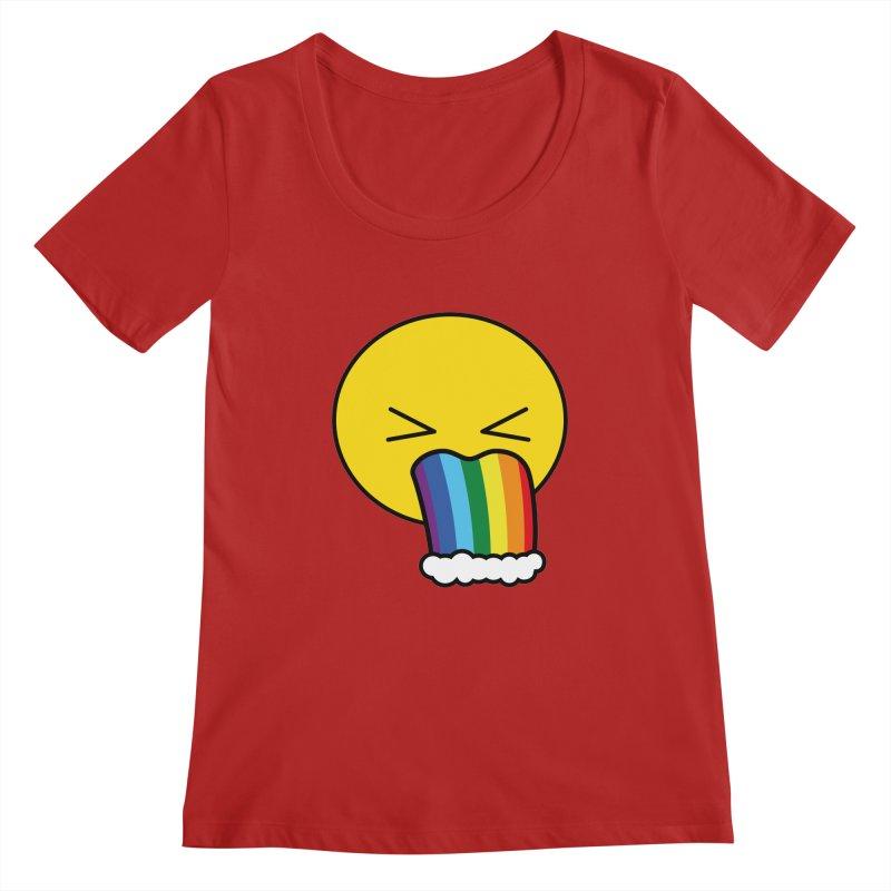 Puke Rainbow - Emoji Women's Scoopneck by Beatrizxe