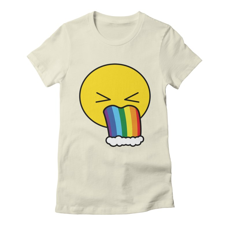 Puke Rainbow - Emoji Women's Fitted T-Shirt by Beatrizxe