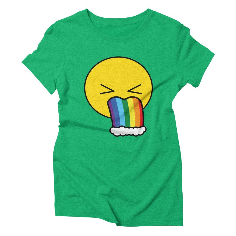 Puke Rainbow - Emoji Women's Triblend T-Shirt by Beatrizxe