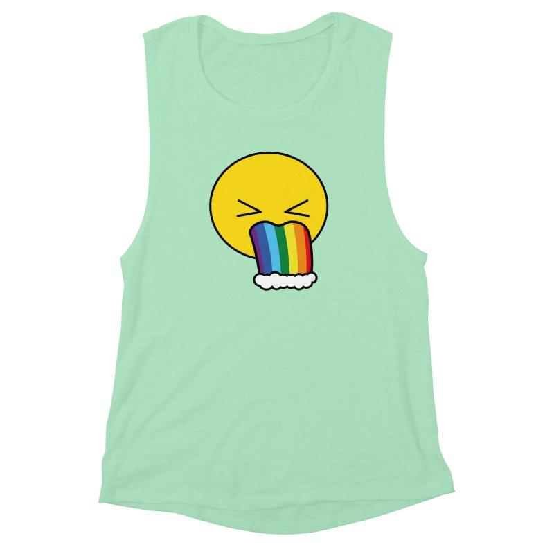 Puke Rainbow - Emoji Women's Muscle Tank by Beatrizxe