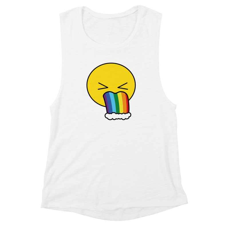 Puke Rainbow - Emoji Women's Muscle Tank by Beatrizxe