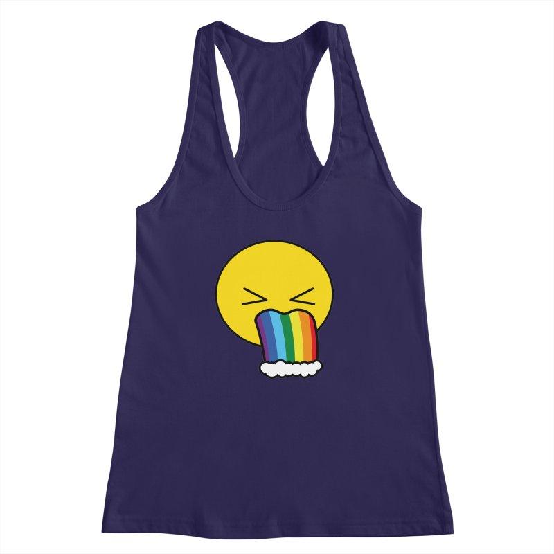 Puke Rainbow - Emoji Women's Racerback Tank by Beatrizxe