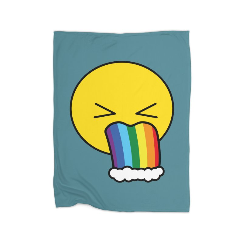 Puke Rainbow - Emoji Home Blanket by Beatrizxe