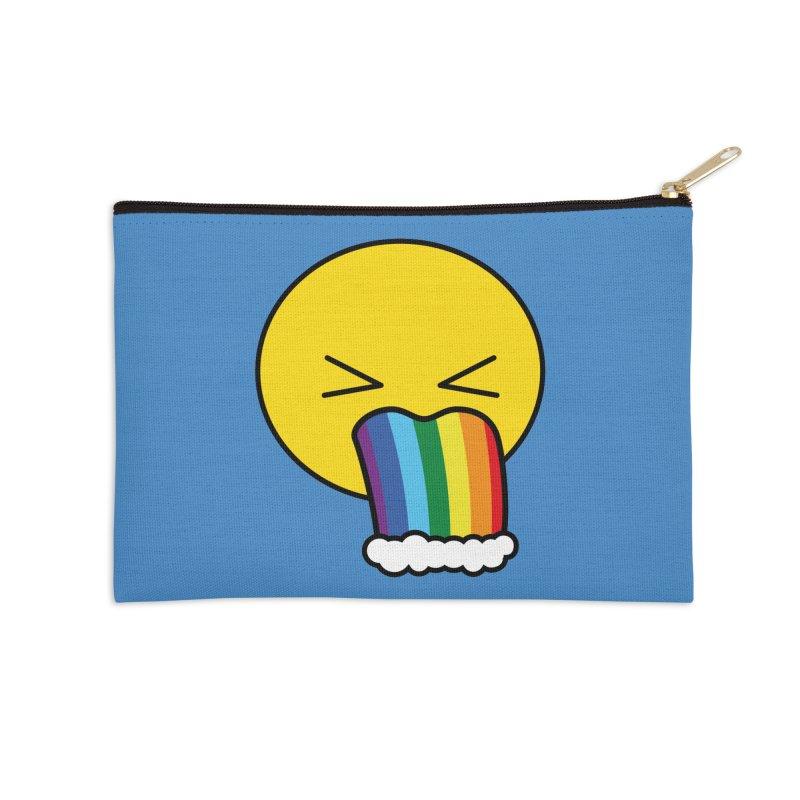 Puke Rainbow - Emoji Accessories Zip Pouch by Beatrizxe