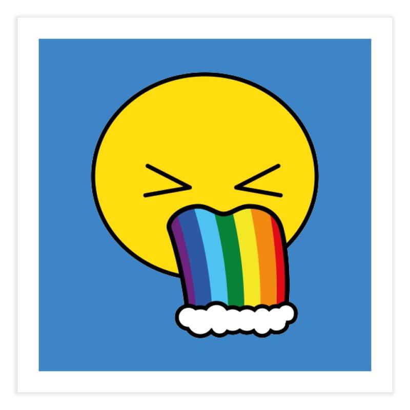 Puke Rainbow - Emoji Home Fine Art Print by Beatrizxe