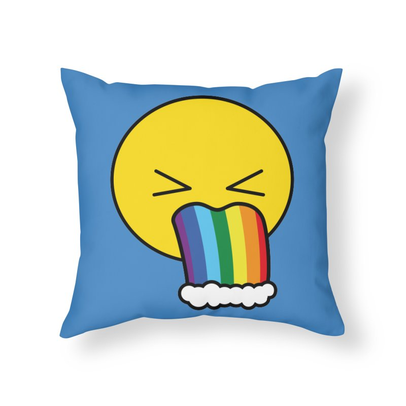 Puke Rainbow - Emoji Home Throw Pillow by Beatrizxe