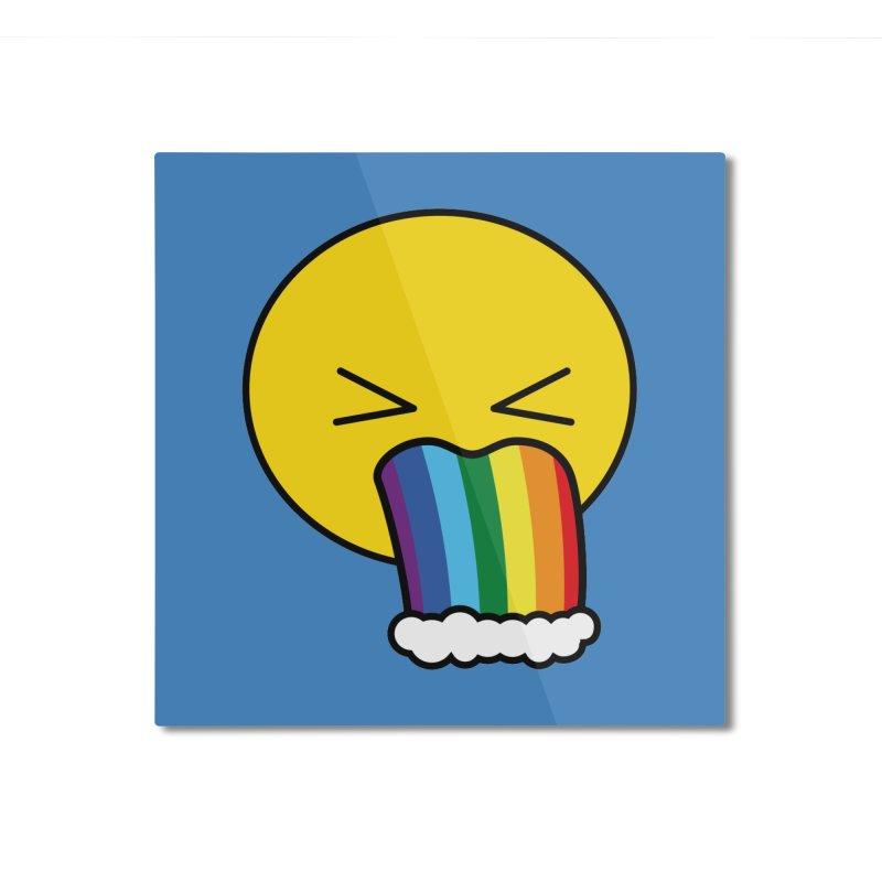 Puke Rainbow - Emoji Home Mounted Aluminum Print by Beatrizxe