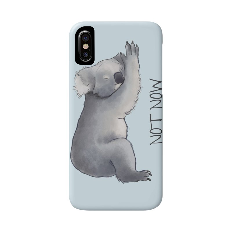 Koala Sketch - Not Now - Lazy animal Accessories Phone Case by Beatrizxe