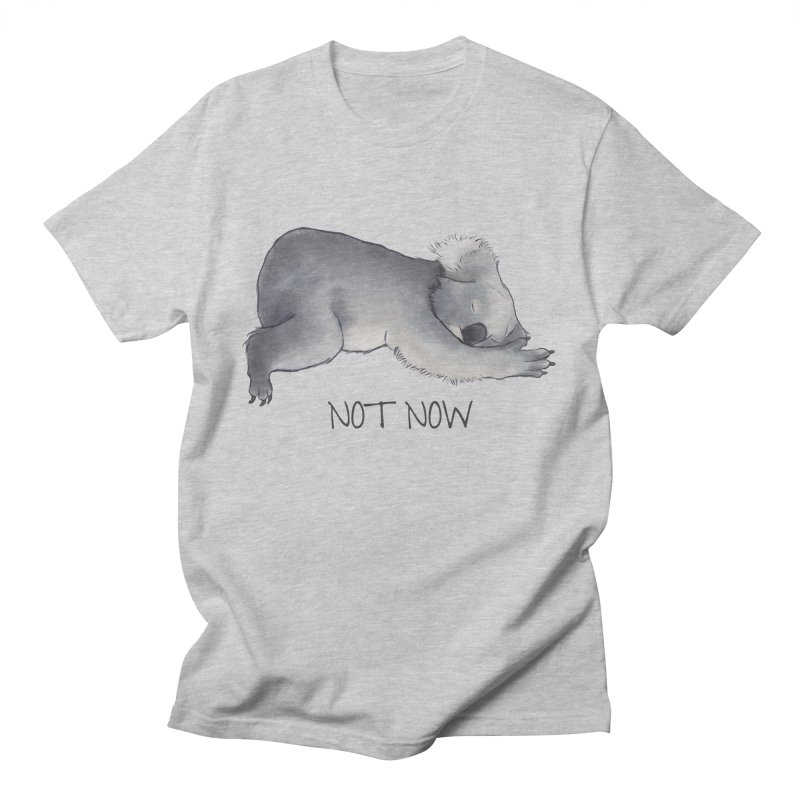 Koala Sketch - Not Now - Lazy animal in Men's Regular T-Shirt Heather Grey by Beatrizxe