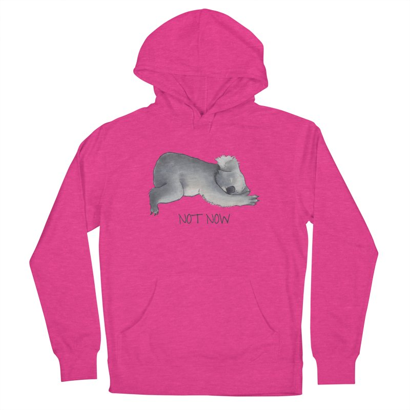 Koala Sketch - Not Now - Lazy animal Men's French Terry Pullover Hoody by Beatrizxe