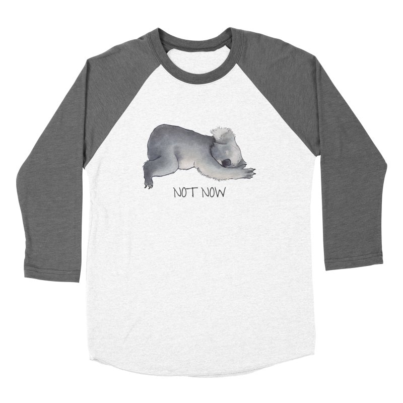 Koala Sketch - Not Now - Lazy animal Women's Baseball Triblend Longsleeve T-Shirt by Beatrizxe