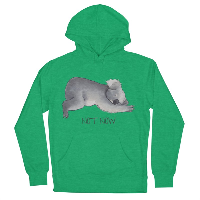 Koala Sketch - Not Now - Lazy animal Women's French Terry Pullover Hoody by Beatrizxe