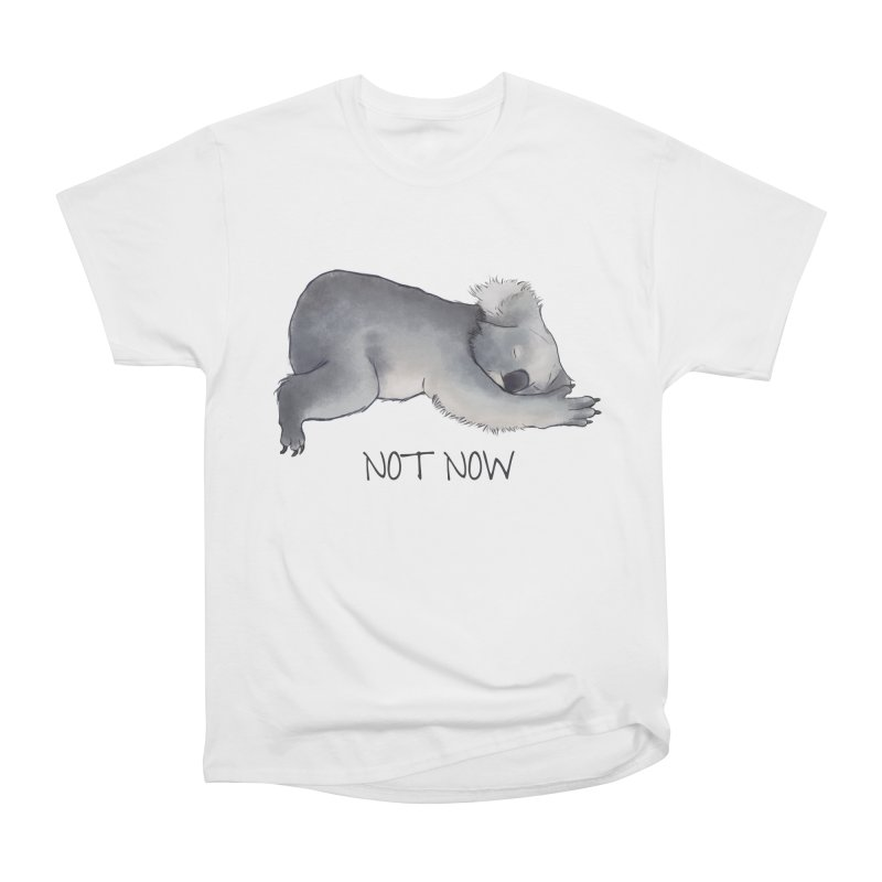 Koala Sketch - Not Now - Lazy animal Men's Heavyweight T-Shirt by Beatrizxe