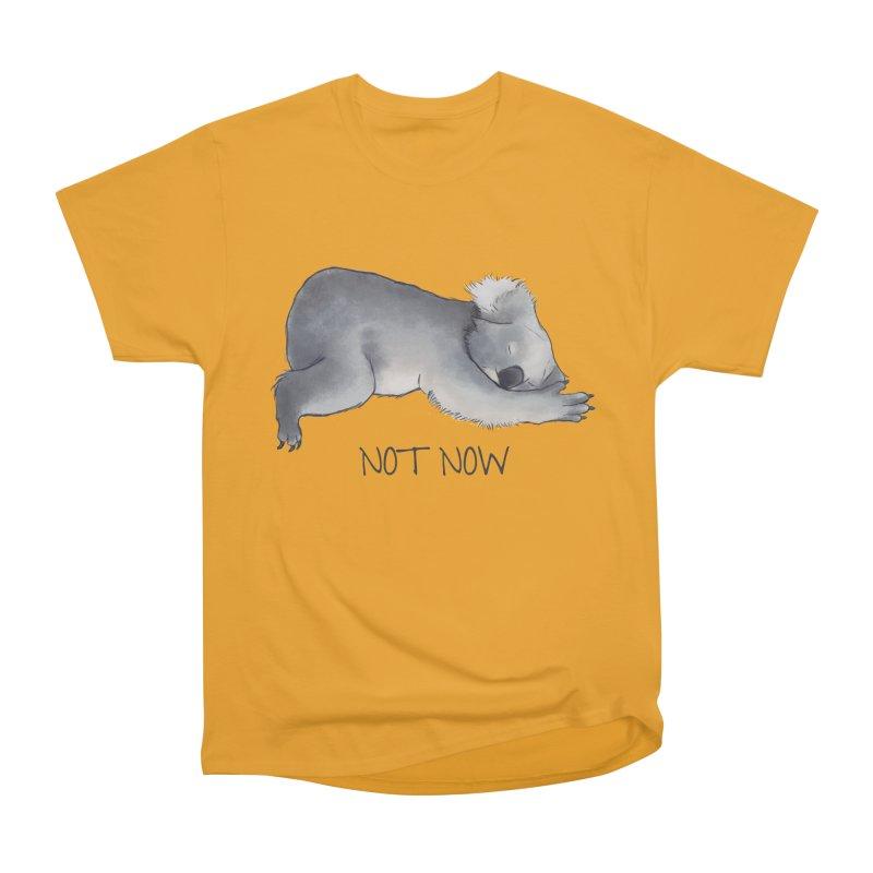 Koala Sketch - Not Now - Lazy animal Women's Classic Unisex T-Shirt by Beatrizxe