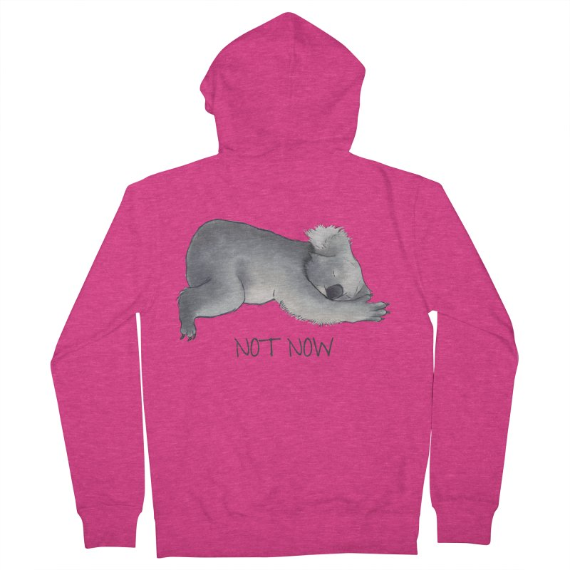 Koala Sketch - Not Now - Lazy animal Women's French Terry Zip-Up Hoody by Beatrizxe