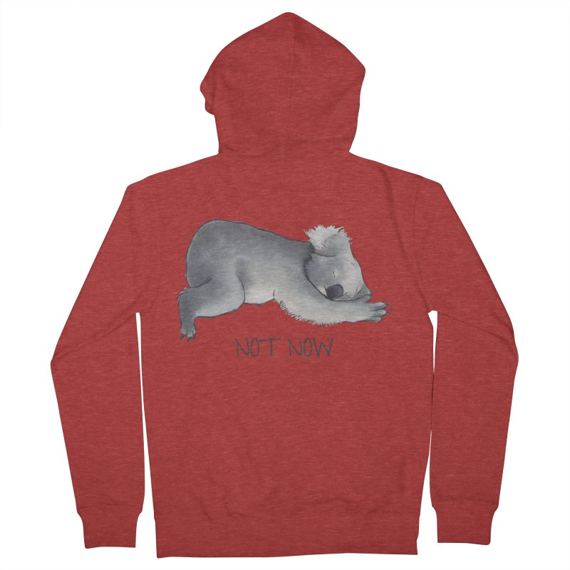 Koala Sketch - Not Now - Lazy animal Men's Zip-Up Hoody by Beatrizxe