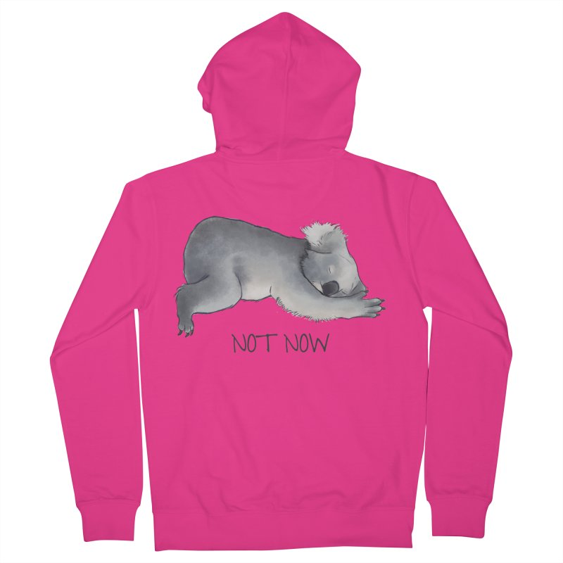 Koala Sketch - Not Now - Lazy animal Men's French Terry Zip-Up Hoody by Beatrizxe