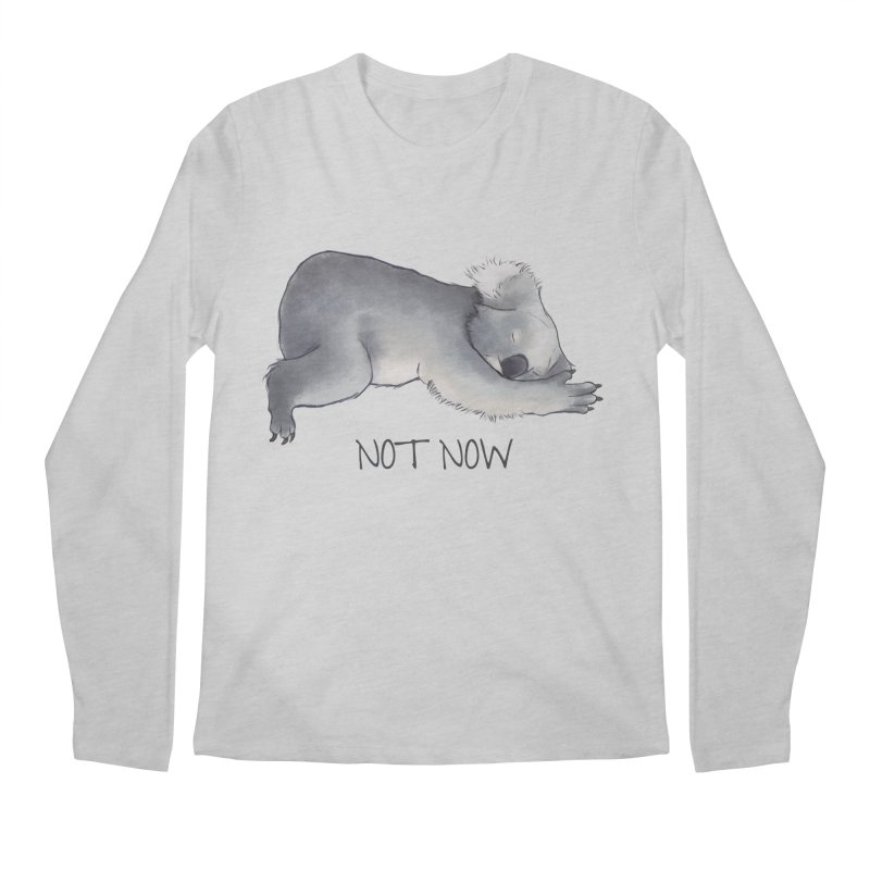 Koala Sketch - Not Now - Lazy animal Men's Longsleeve T-Shirt by Beatrizxe