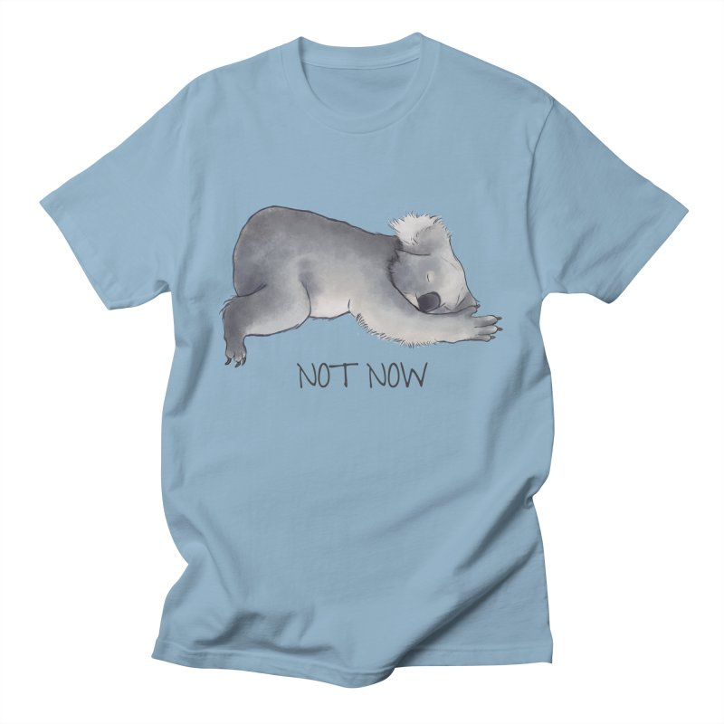 Koala Sketch - Not Now - Lazy animal Women's Regular Unisex T-Shirt by Beatrizxe