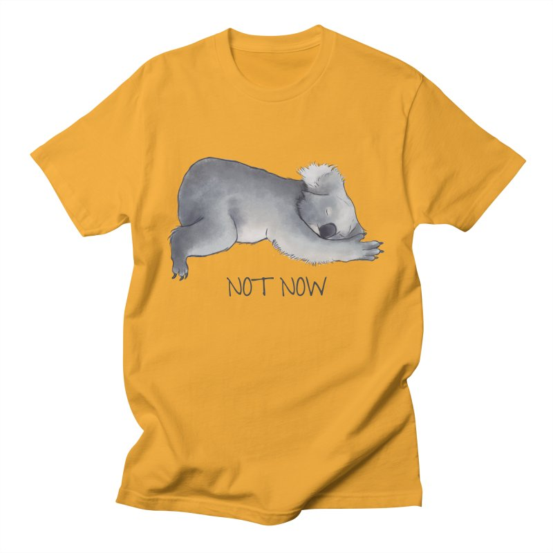 Koala Sketch - Not Now - Lazy animal Men's Regular T-Shirt by Beatrizxe