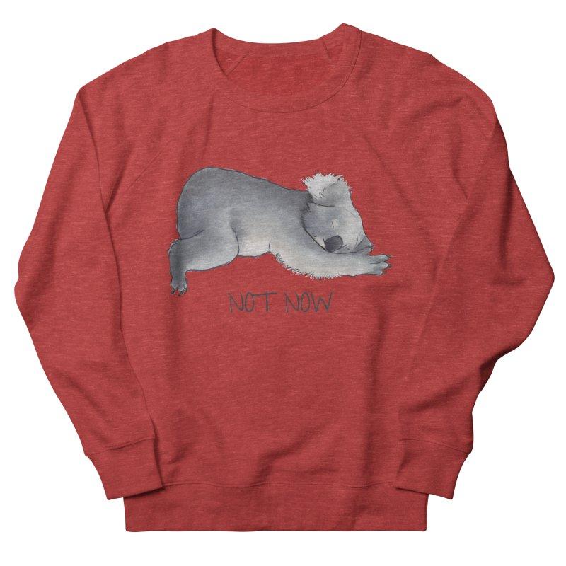 Koala Sketch - Not Now - Lazy animal Women's French Terry Sweatshirt by Beatrizxe