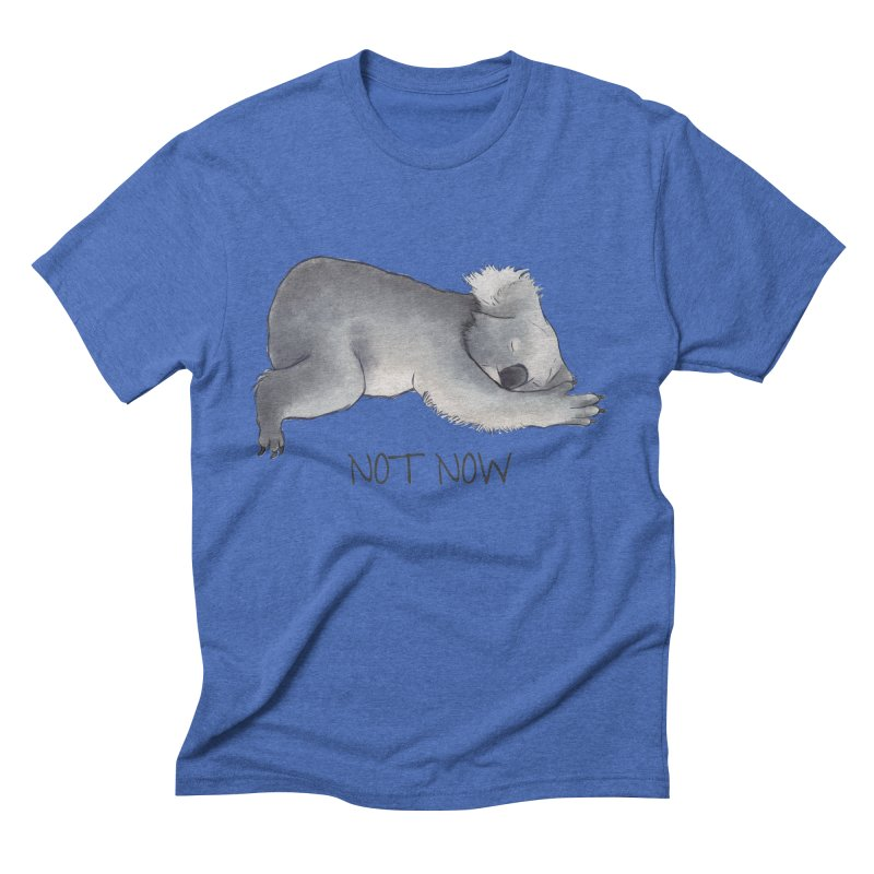 Koala Sketch - Not Now - Lazy animal Men's Triblend T-Shirt by Beatrizxe