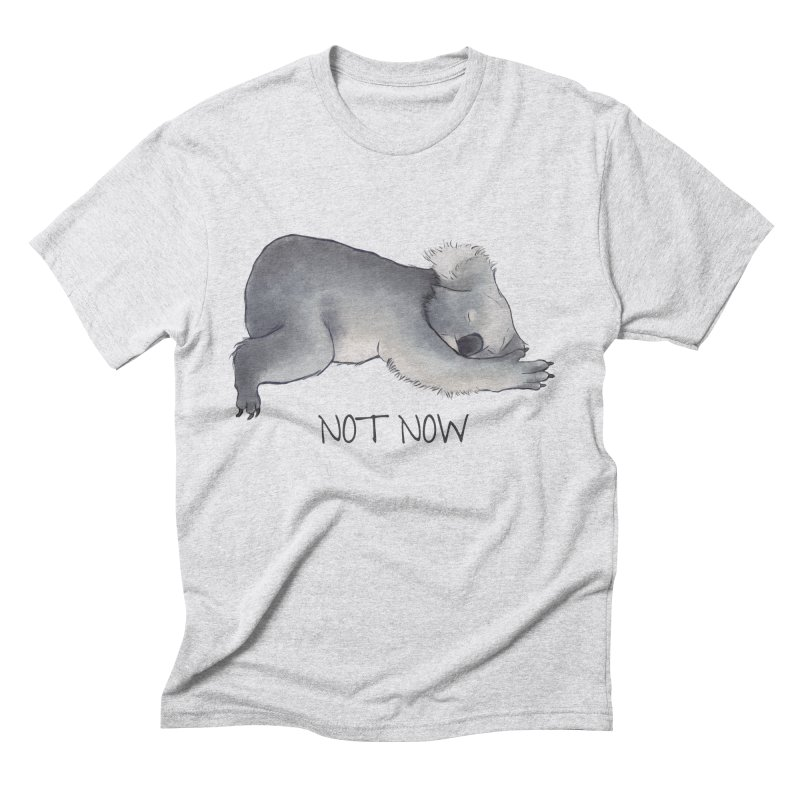 Koala Sketch - Not Now - Lazy animal Men's Triblend T-shirt by Beatrizxe