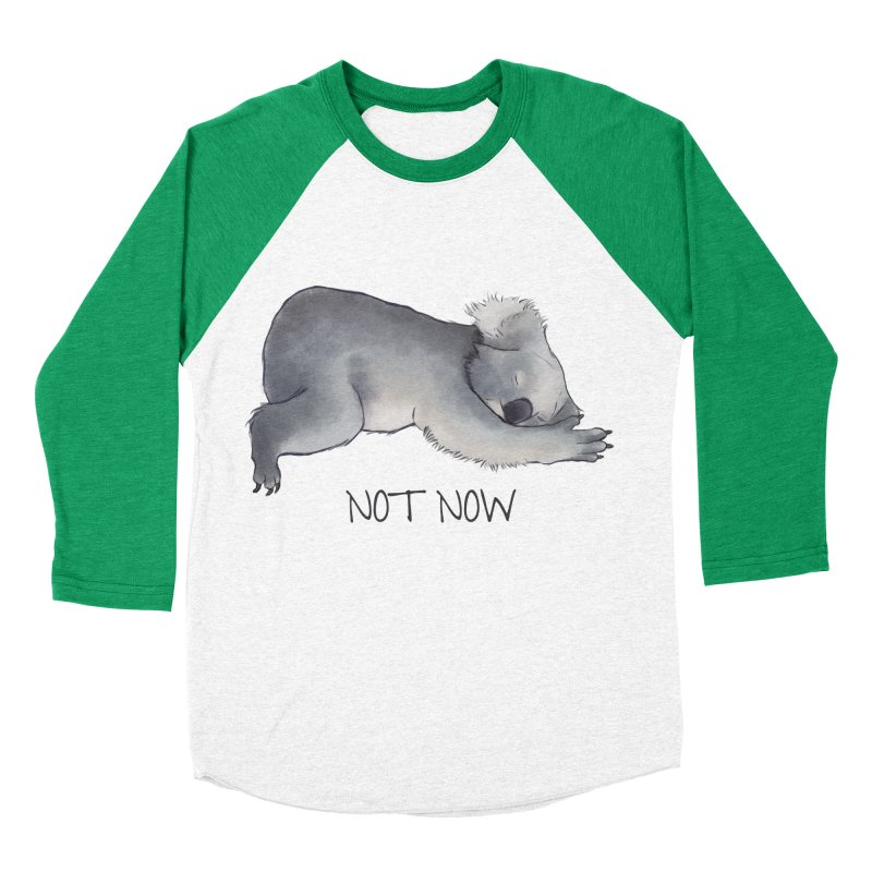 Koala Sketch - Not Now - Lazy animal Women's Baseball Triblend Longsleeve T-Shirt by Beatrizxe