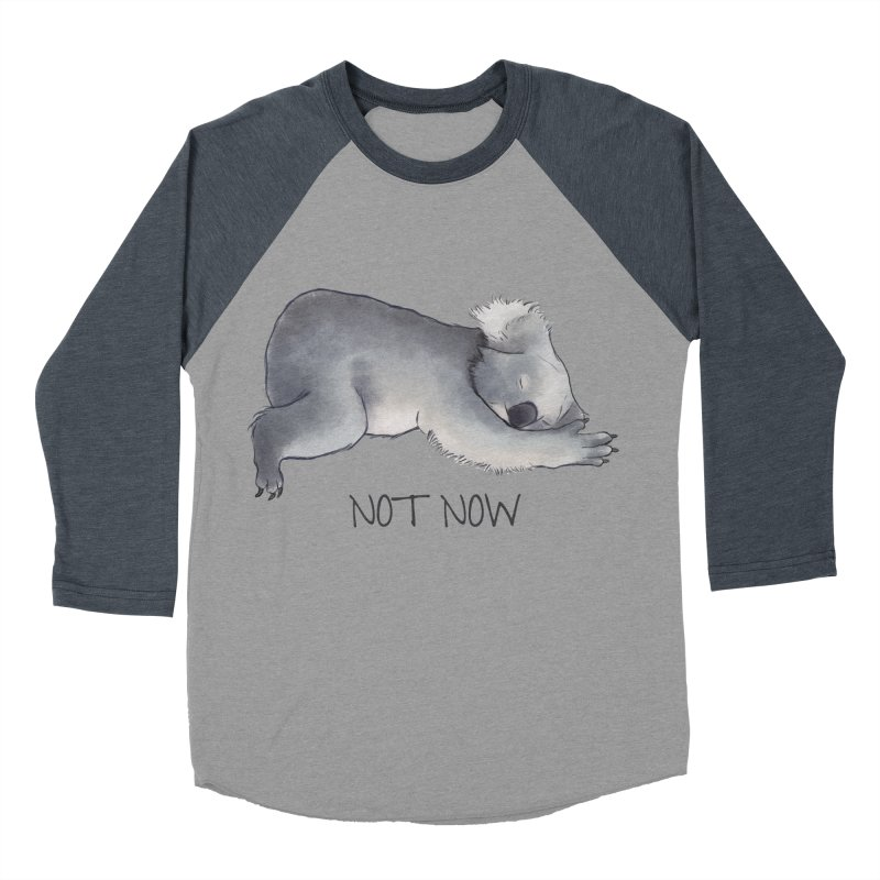 Koala Sketch - Not Now - Lazy animal Men's Baseball Triblend Longsleeve T-Shirt by Beatrizxe