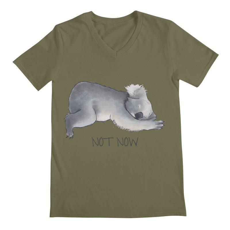 Koala Sketch - Not Now - Lazy animal Men's Regular V-Neck by Beatrizxe