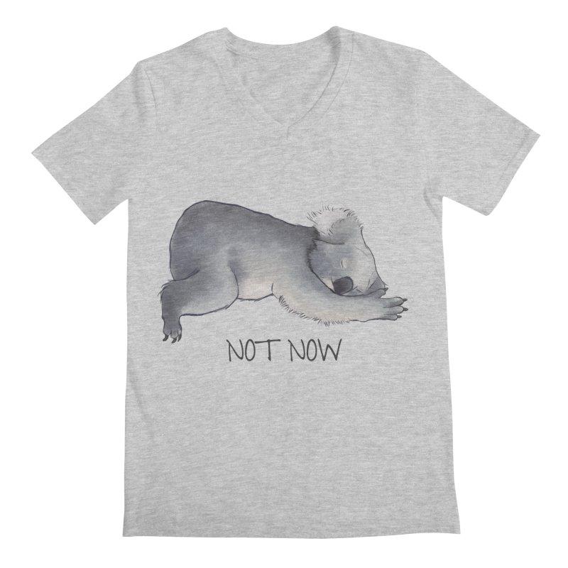 Koala Sketch - Not Now - Lazy animal Men's V-Neck by Beatrizxe