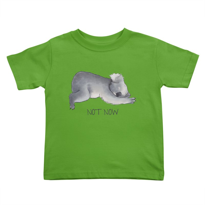 Koala Sketch - Not Now - Lazy animal Kids Toddler T-Shirt by Beatrizxe