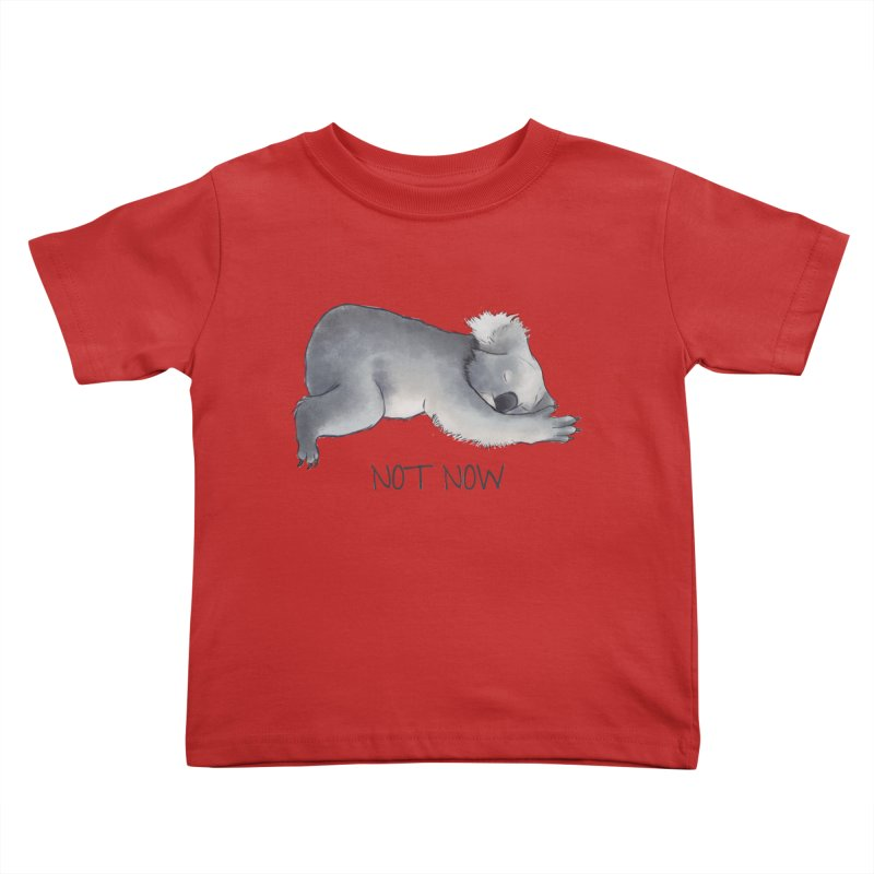 Koala Sketch - Not Now - Lazy animal Kids Toddler T-Shirt by Beatrizxe
