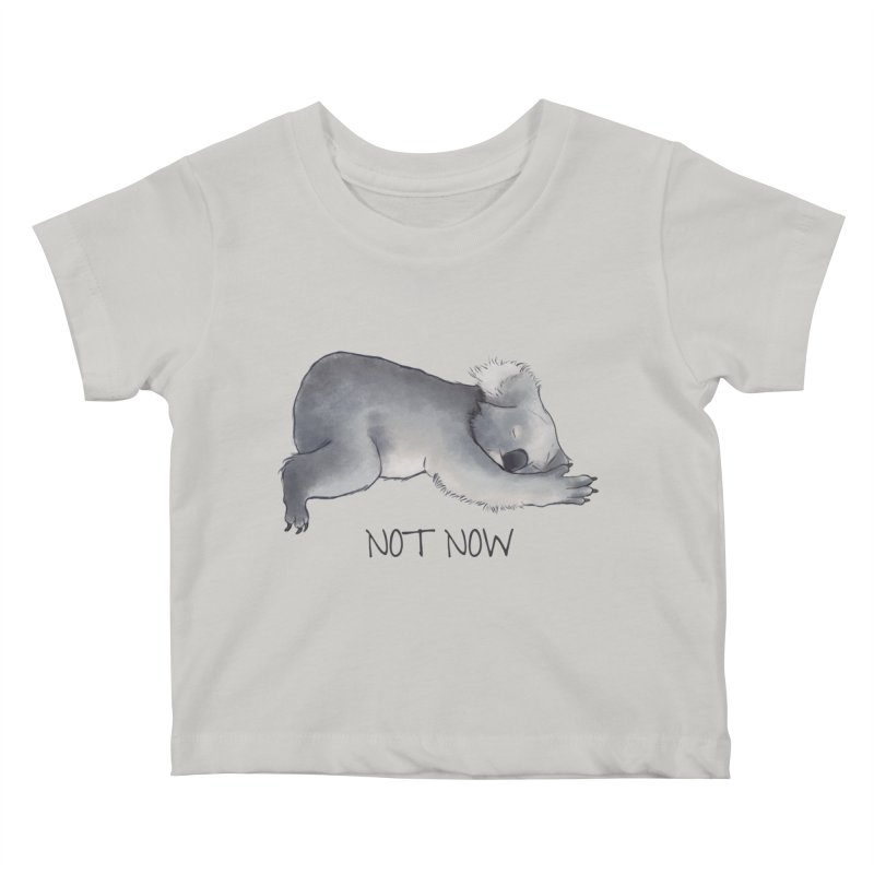 Koala Sketch - Not Now - Lazy animal Kids Baby T-Shirt by Beatrizxe