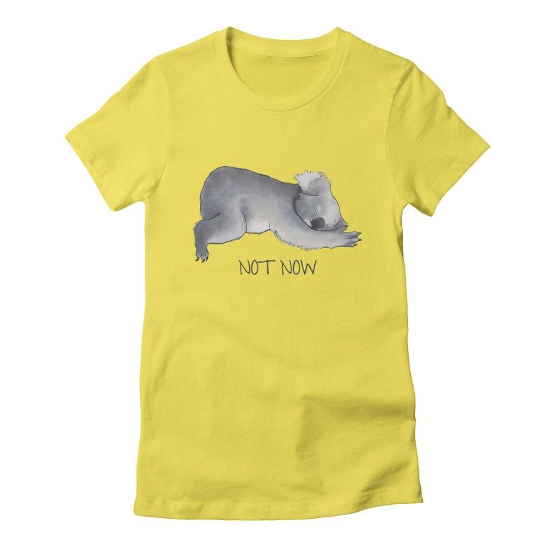 Koala Sketch - Not Now - Lazy animal Women's T-Shirt by Beatrizxe