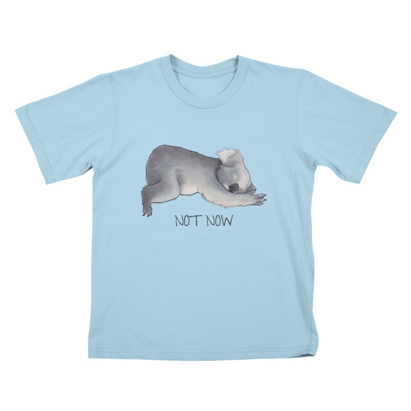 Koala Sketch - Not Now - Lazy animal Kids T-Shirt by Beatrizxe