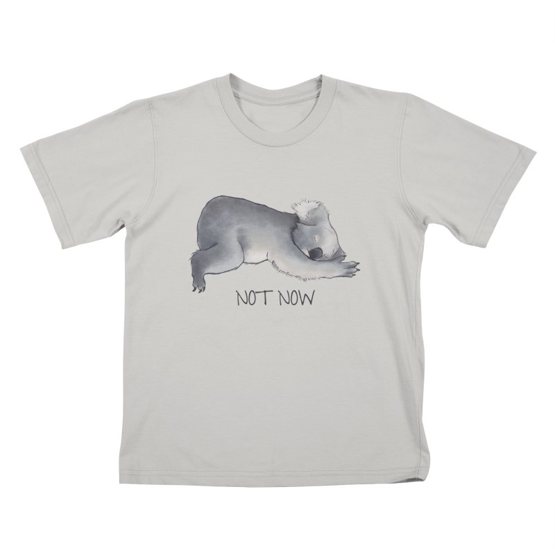 Koala Sketch - Not Now - Lazy animal Kids T-shirt by Beatrizxe