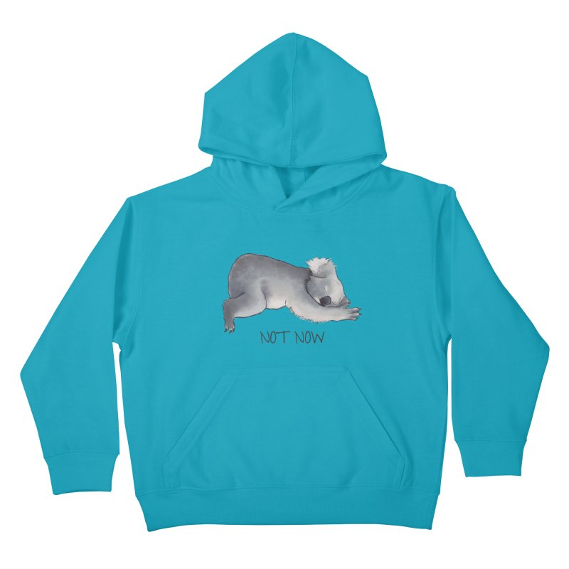 Koala Sketch - Not Now - Lazy animal Kids Pullover Hoody by Beatrizxe