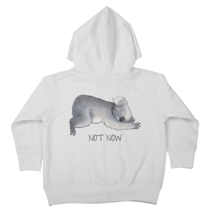 Koala Sketch - Not Now - Lazy animal Kids Toddler Zip-Up Hoody by Beatrizxe