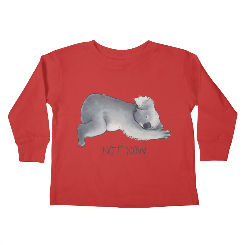 Koala Sketch - Not Now - Lazy animal Kids Toddler Longsleeve T-Shirt by Beatrizxe
