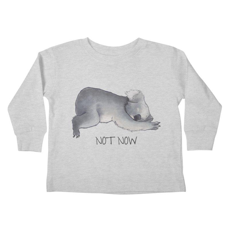 Koala Sketch - Not Now - Lazy animal Kids Toddler Longsleeve T-Shirt by Beatrizxe