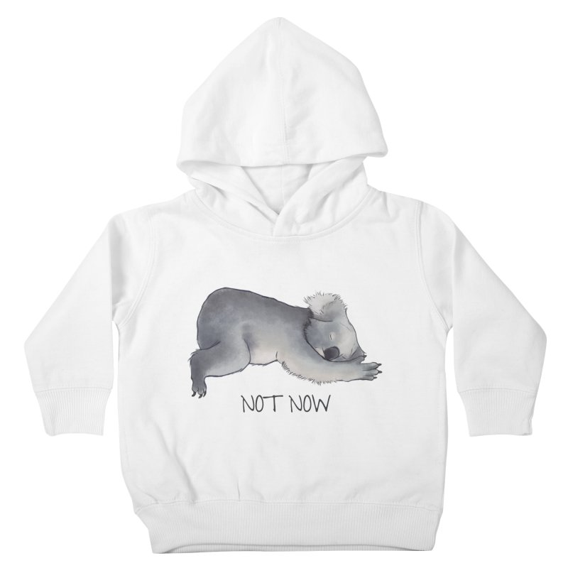 Koala Sketch - Not Now - Lazy animal Kids Toddler Pullover Hoody by Beatrizxe
