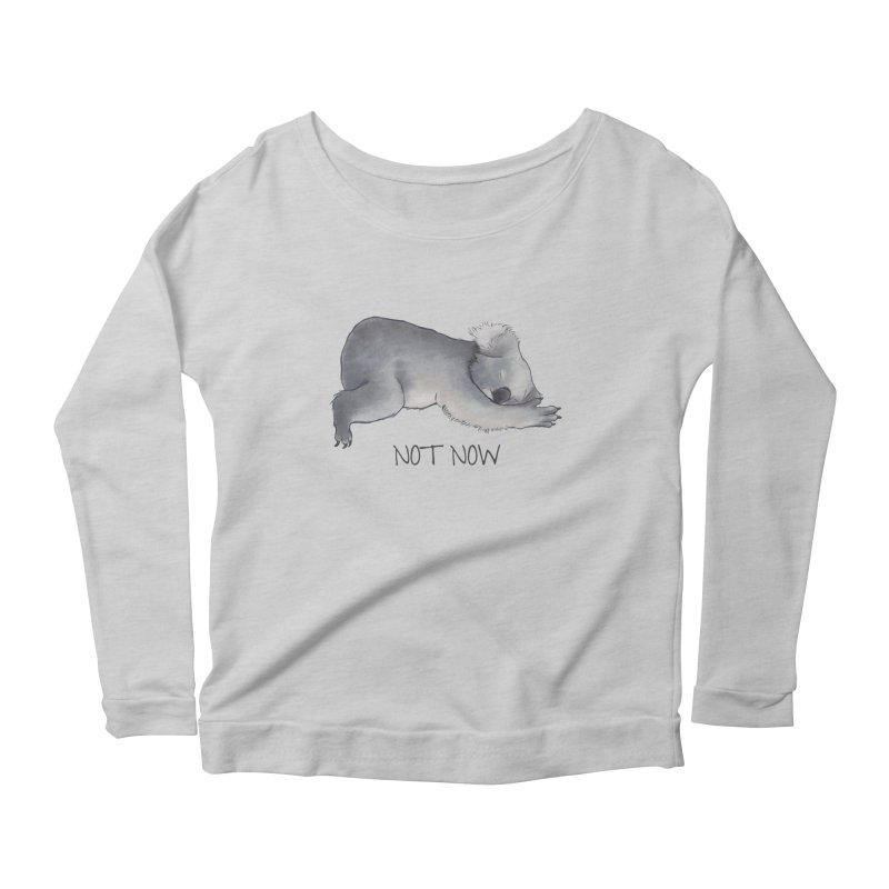 Koala Sketch - Not Now - Lazy animal Women's Longsleeve Scoopneck  by Beatrizxe