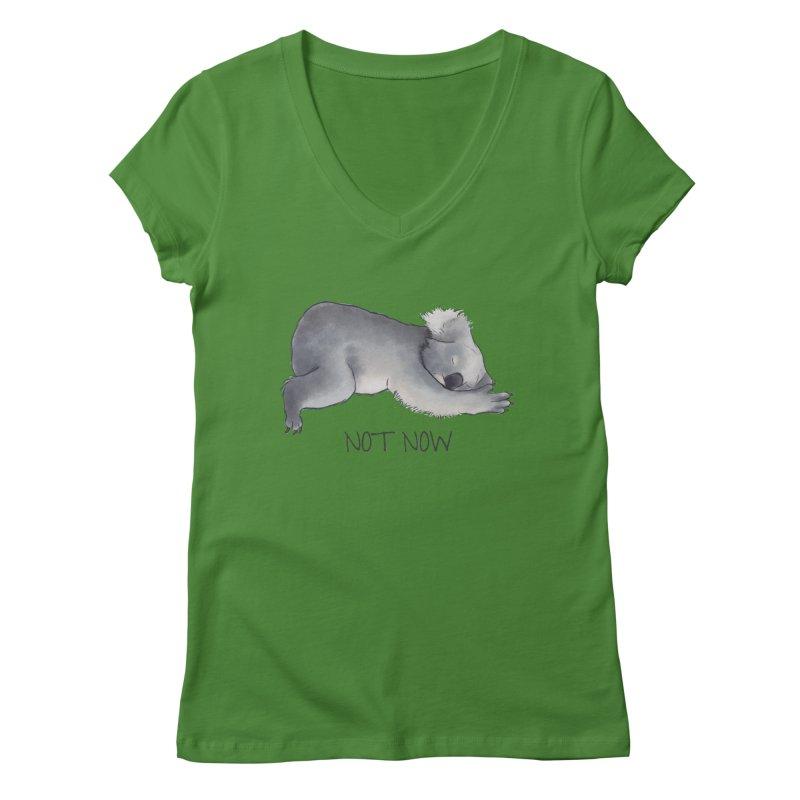 Koala Sketch - Not Now - Lazy animal Women's Regular V-Neck by Beatrizxe