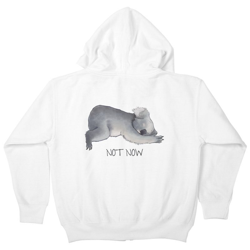 Koala Sketch - Not Now - Lazy animal Kids Zip-Up Hoody by Beatrizxe
