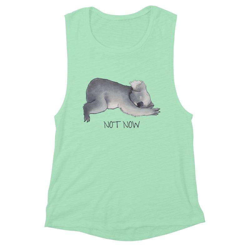 Koala Sketch - Not Now - Lazy animal Women's Muscle Tank by Beatrizxe