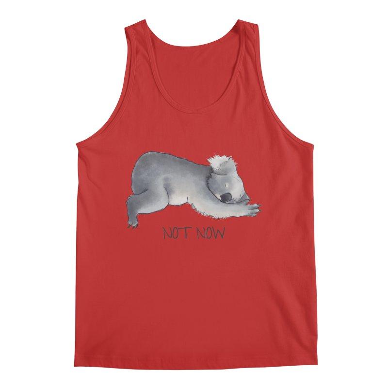 Koala Sketch - Not Now - Lazy animal Men's Regular Tank by Beatrizxe
